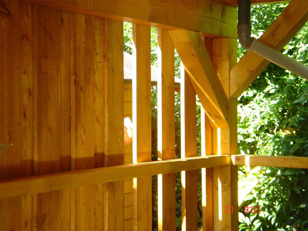 Carport aus Holz Detailansicht