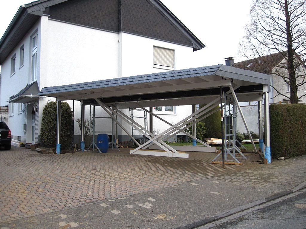 Carport mit Edelstahlstützen