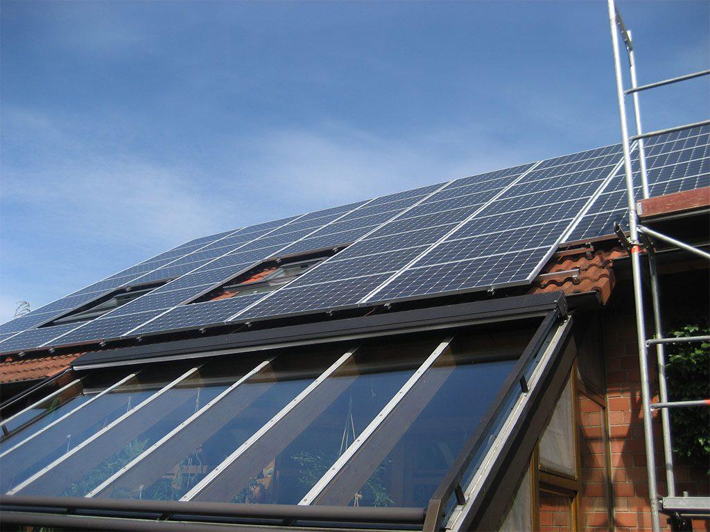 Solaranlage auf Hausdach