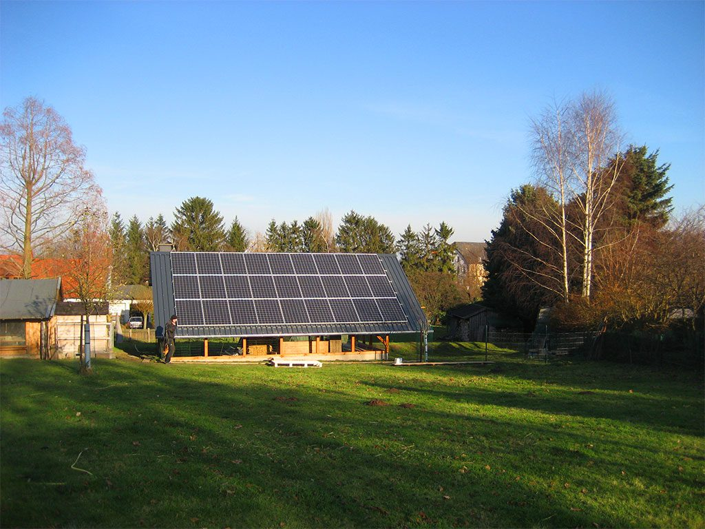 Solaranlage auf Schuppendach