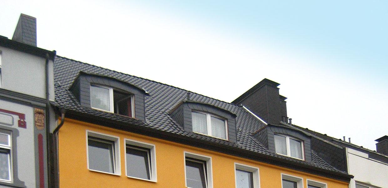Rundgauben an Mehrfamilienhaus